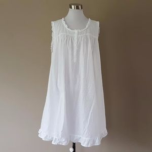 All Cotton Plus Size 3 Dotted Swiss Nightgown